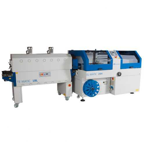automatic shrink wrap packaging machine and tunnel